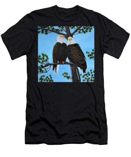 Men's T-Shirt (Athletic Fit) featuring the painting Friends by Tracey Goodwin