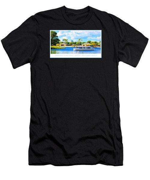 Friendship Boat On The Lagoon Epcot Walt Disney World Men's T-Shirt (Athletic Fit)