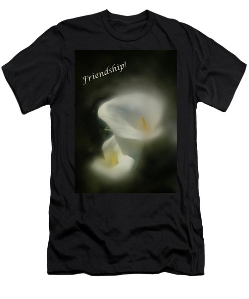 Men's T-Shirt (Slim Fit) featuring the photograph Friendship Card by Richard Cummings