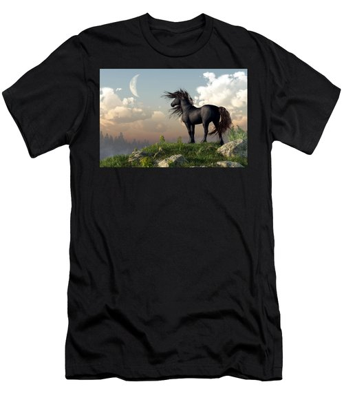 Friesian Moon Men's T-Shirt (Athletic Fit)