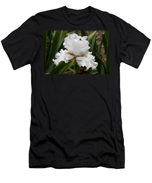 Frilly White Iris Flower Men's T-Shirt (Athletic Fit)