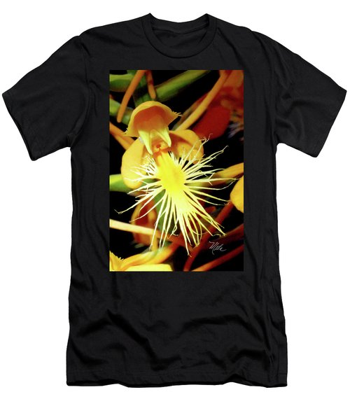 Fringed Yellow Orchid Men's T-Shirt (Athletic Fit)