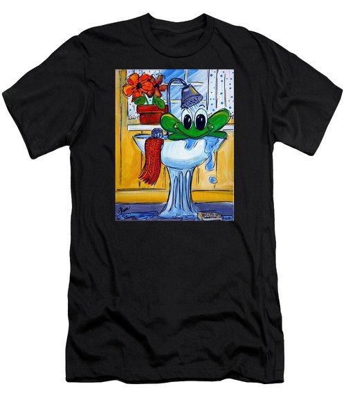 Frog Bath Men's T-Shirt (Athletic Fit)