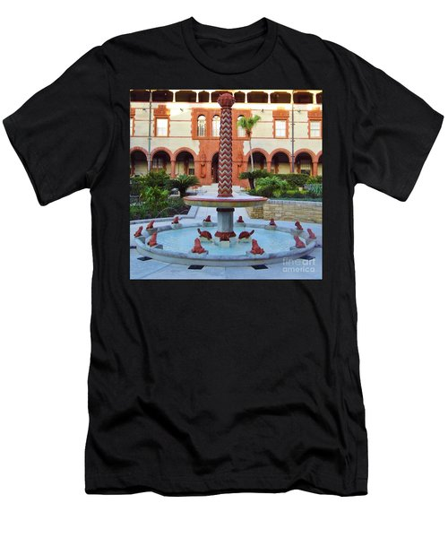 Frog Fountain Men's T-Shirt (Athletic Fit)