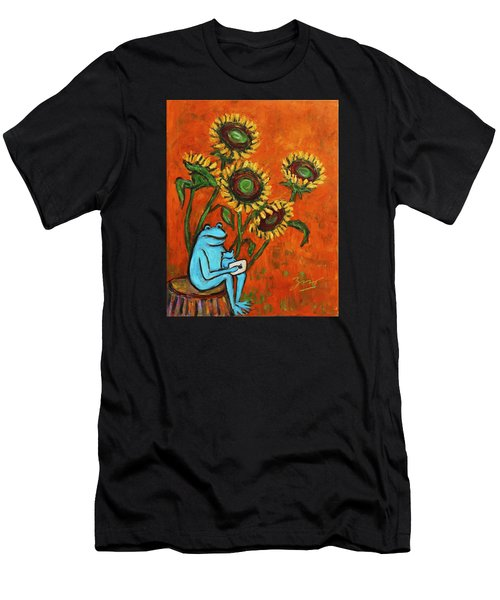 Frog I Padding Amongst Sunflowers Men's T-Shirt (Athletic Fit)