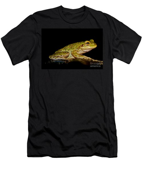 Men's T-Shirt (Slim Fit) featuring the photograph Cuban Tree Frog by Olga Hamilton