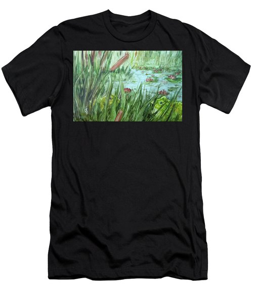 Frog Went A-courtin Men's T-Shirt (Athletic Fit)