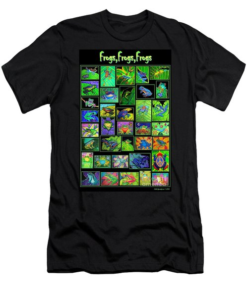 Frogs Poster Men's T-Shirt (Athletic Fit)