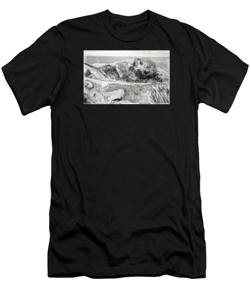 From My Window A Clump Of Trees Men's T-Shirt (Athletic Fit)