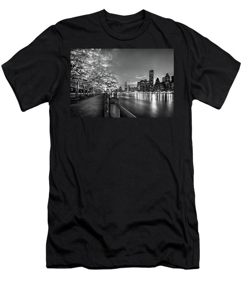 Men's T-Shirt (Slim Fit) featuring the photograph Front Row Roosevelt Island by Az Jackson