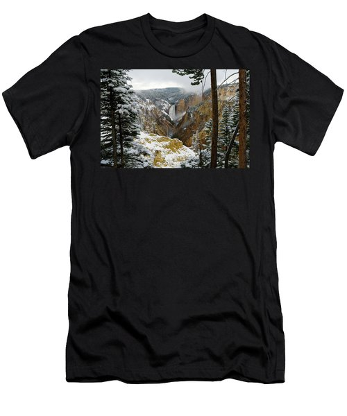 Men's T-Shirt (Slim Fit) featuring the photograph Frosted Canyon by Steve Stuller