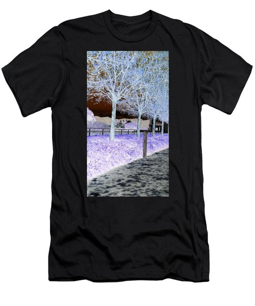 Frosty Trees At The Getty Men's T-Shirt (Athletic Fit)