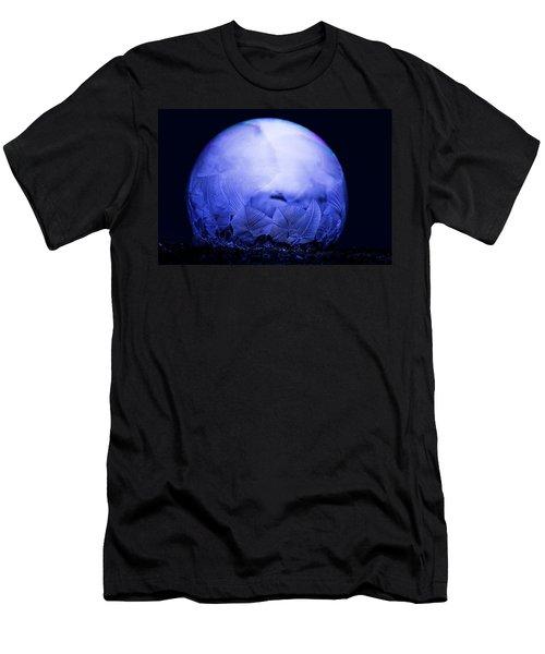 Frozen Bubble Art Blue Men's T-Shirt (Athletic Fit)