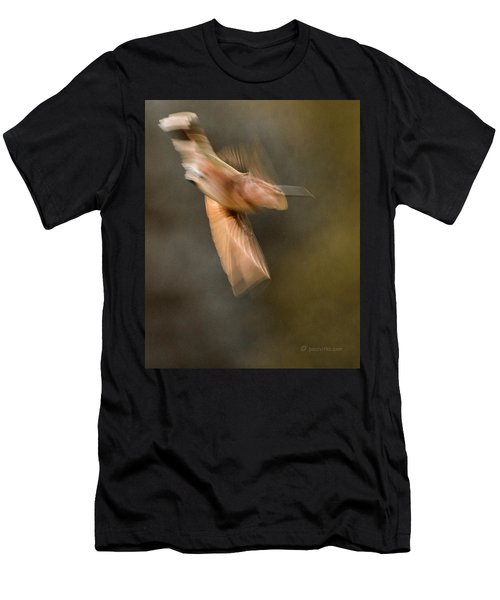...frozen Flight Hummingbird.... Men's T-Shirt (Athletic Fit)