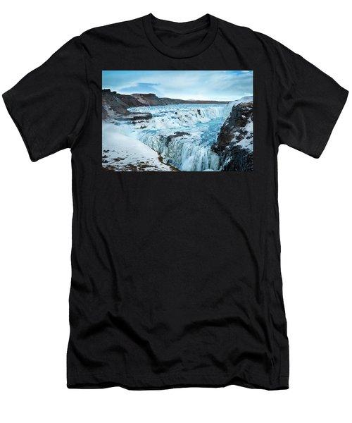 Frozen Gullfoss Men's T-Shirt (Athletic Fit)