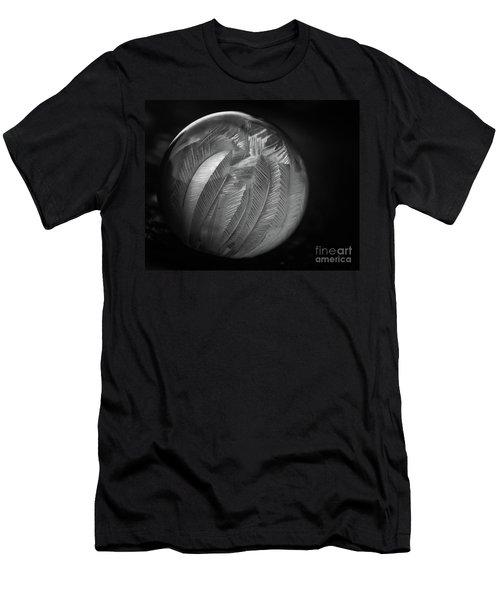 Frozen Soap Bubble - Black And White - Macro Men's T-Shirt (Athletic Fit)