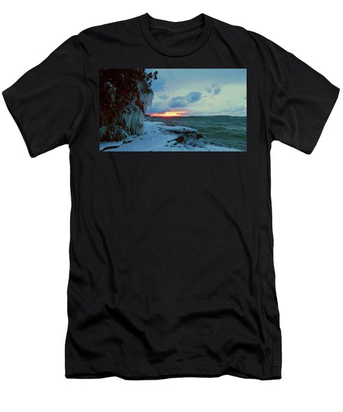 Frozen Sunset In Cape Vincent Men's T-Shirt (Athletic Fit)