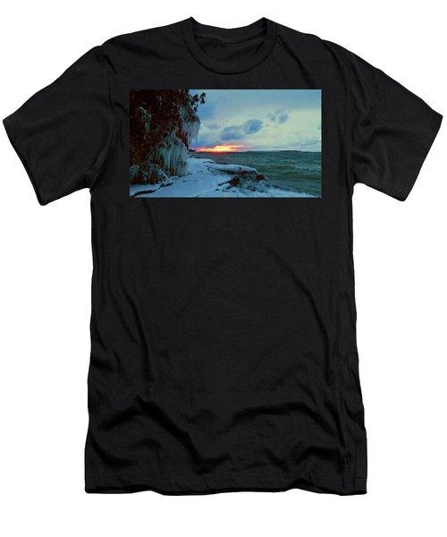 Frozen Sunset In Cape Vincent Men's T-Shirt (Athletic Fit)