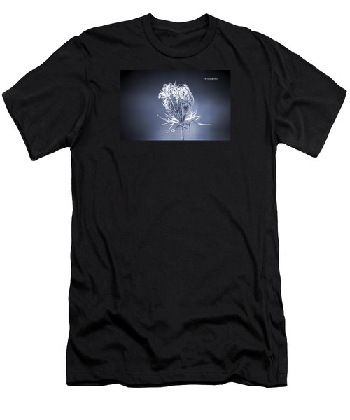 Men's T-Shirt (Athletic Fit) featuring the photograph Frozen Wildflower by Stwayne Keubrick