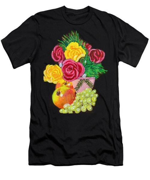 Fruit Petals Men's T-Shirt (Athletic Fit)