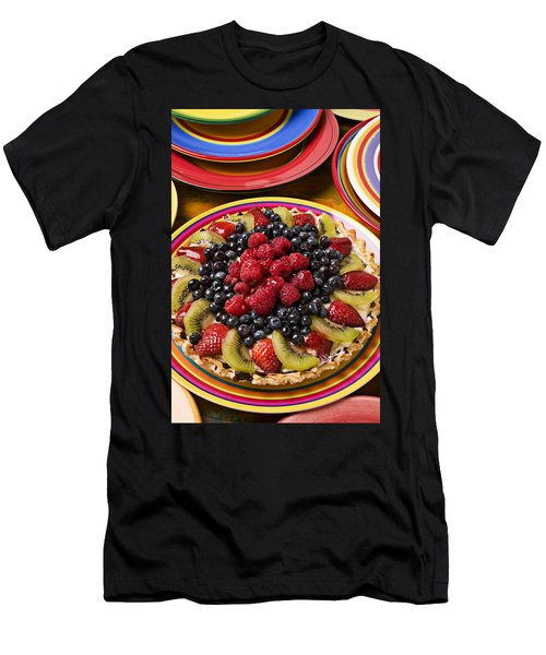 Fruit Tart Pie Men's T-Shirt (Slim Fit) by Garry Gay