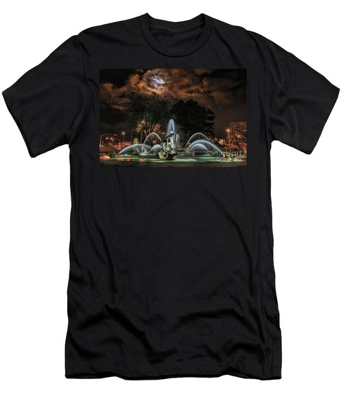 Full Moon At The Fountain Men's T-Shirt (Athletic Fit)