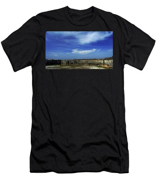 Ft. Pickens Sky 2 Men's T-Shirt (Athletic Fit)