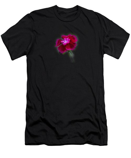 Fuchsia Pink Dianthus Tee-shirt Men's T-Shirt (Athletic Fit)