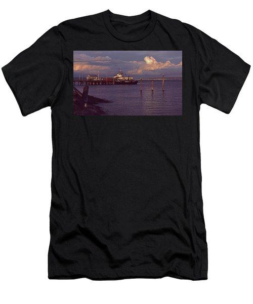 Fuel Dock, Port Townsend Men's T-Shirt (Athletic Fit)
