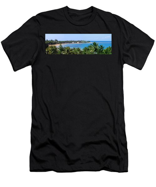 Men's T-Shirt (Slim Fit) featuring the photograph Full Beach View by Suhas Tavkar