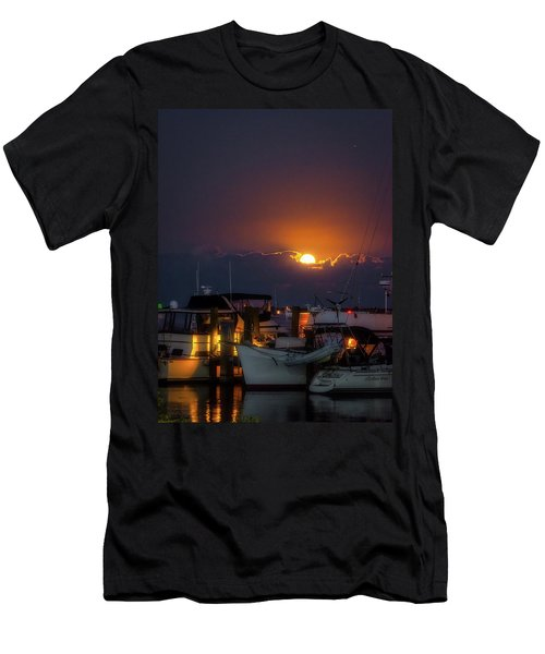 Full Moon At Titusville Men's T-Shirt (Athletic Fit)