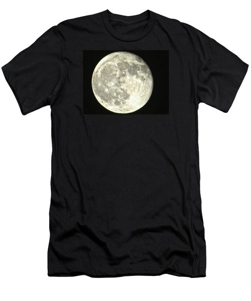 Men's T-Shirt (Slim Fit) featuring the photograph Full Moon Love by Nikki McInnes