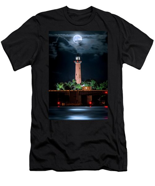 Full Moon Over Jupiter Lighthouse On Christmas Night 2015 Men's T-Shirt (Athletic Fit)