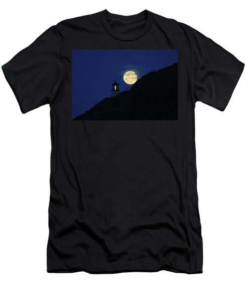 Full Moon Over Makapu'u Light Men's T-Shirt (Athletic Fit)