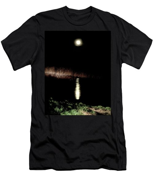Full Moon Over Piermont Creek Men's T-Shirt (Athletic Fit)