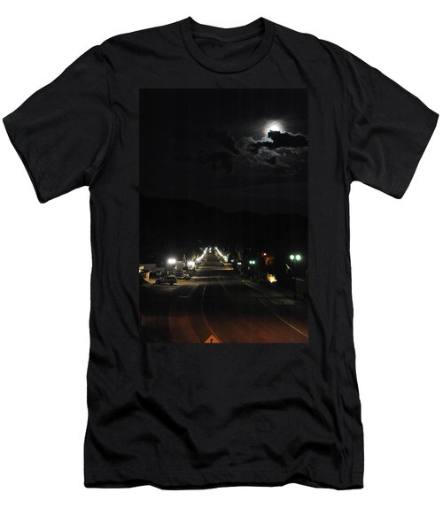 Full Moon Over Red River Men's T-Shirt (Athletic Fit)