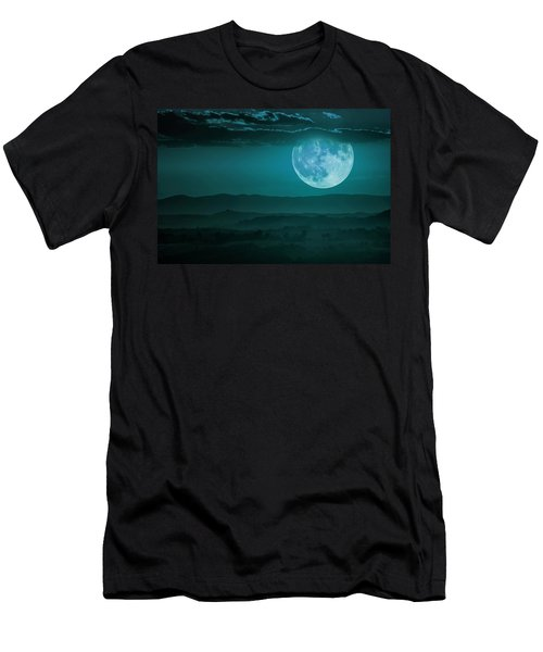Full Moon Over Tuscany Men's T-Shirt (Athletic Fit)