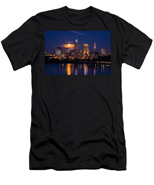 Full Moonrise Over Cleveland Men's T-Shirt (Athletic Fit)