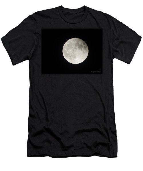 Full Planet Moon Men's T-Shirt (Athletic Fit)