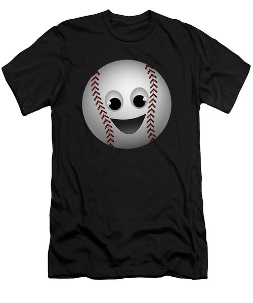 Fun Baseball Character Men's T-Shirt (Slim Fit) by MM Anderson