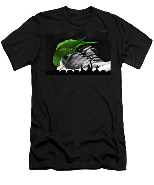 Men's T-Shirt (Slim Fit) featuring the photograph Fun Digital Art 01 by Kevin Chippindall