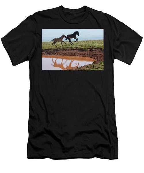 Fun In The Rockies- Wild Horse Foals Men's T-Shirt (Athletic Fit)