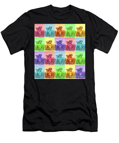 Fun Spring Bunnies Men's T-Shirt (Athletic Fit)