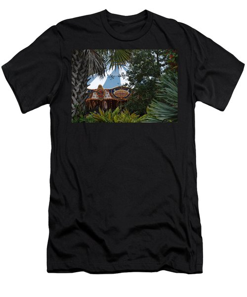 Men's T-Shirt (Slim Fit) featuring the photograph Fun Thru The Trees by Rob Hans