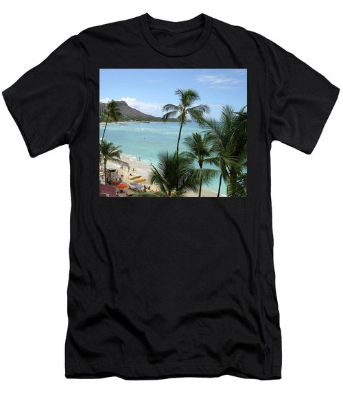 Fun Times On The Beach In Waikiki Men's T-Shirt (Athletic Fit)