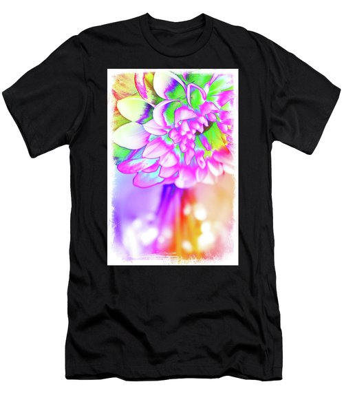 Funky Dahlia Men's T-Shirt (Athletic Fit)
