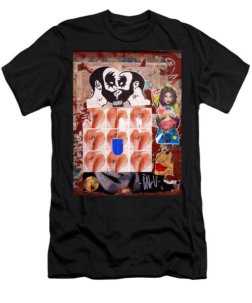 Funky New York Street Art  Men's T-Shirt (Athletic Fit)