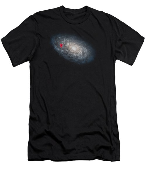 Funny Astronomy Universe  Nerd Geek Humor Men's T-Shirt (Slim Fit) by Philipp Rietz