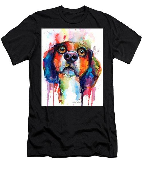 Funny Beagle Dog Art Men's T-Shirt (Athletic Fit)