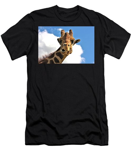 Funny Face Giraffe Men's T-Shirt (Athletic Fit)